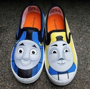 Other - Hand Painted Thomas the Tank Engine Shoes